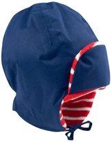 Jo-Jo JoJo Maman Bebe Fleece Lined Tie Hat (Baby) - Navy-0-12 Months