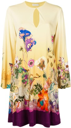 Etro Flora Print Midi Dress