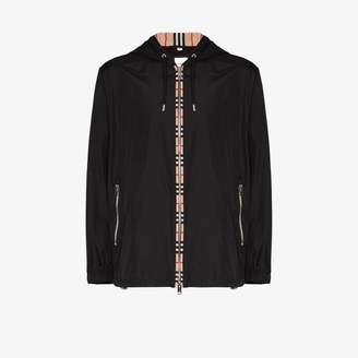 Burberry Everton vintage check trim hooded jacket
