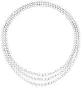 LC Collection Diamond 18k white gold tiered necklace
