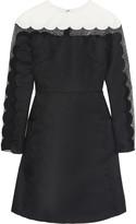 Mikael Aghal Mesh-paneled twill dress