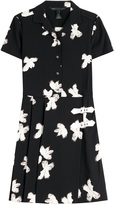 Marc by Marc Jacobs Printed Crepe Dress with Buckles