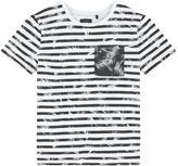 Ikks Striped slubbed jersey T-shirt