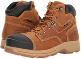 Timberland Helix 6 HD Composite Safety Toe Waterproof BR (Distressed Wheat Full Grain Leather) Men's Work Lace-up Boots