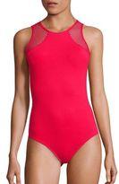 Melissa Odabash Mesh Inset Swimsuit