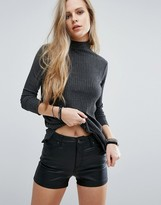 Pull&Bear Ribbed Jersey Sweater