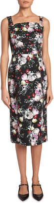Erdem Parker Floral Sleeveless Pencil Dress