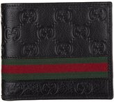 Gucci men's genuine leather wallet credit card bifold guccissima web
