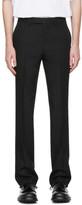 Raf Simons Black Wool Slim Fit Classic Trousers