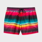 Paul Smith Men's Rainbow 'Blanket Stripe' Swim Shorts
