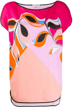 Emilio Pucci psychedelic flower print T-shirt