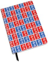 Gift Republic A5 Hardback Notebook with Red and Blue Stamp