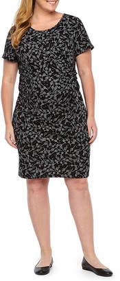 BELLE + SKY Belle & Sky Maternity Short Sleeve Twist Front Dress - Plus