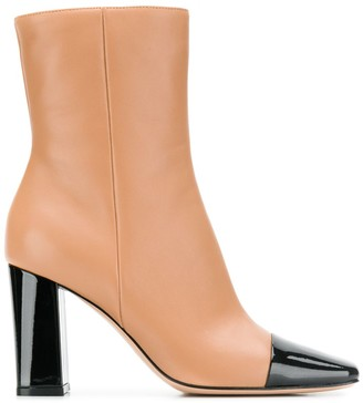 Gianvito Rossi Two Tone Ankle Boots