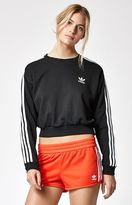 adidas 3-Stripes Cropped Sweatshirt