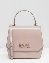 Ted Baker Leather Cross Body Bag With Geometric Bow
