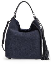 AllSaints Mini Pearl Convertible Leather Hobo - Blue