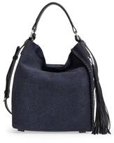 AllSaints 'Mini Pearl' Leather Hobo - Blue