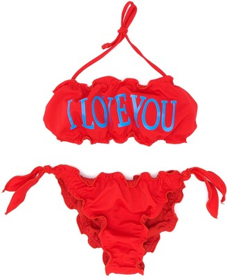 Alberta Ferretti Kids TEEN I Love You bikini set