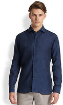 Saks Fifth Avenue Collection Solid Linen Sportshirt