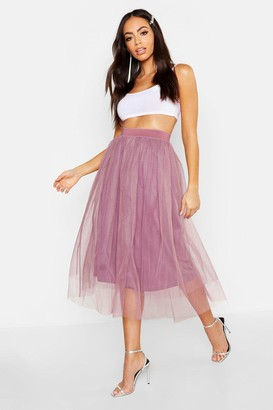 boohoo Tulle Longer Length Midi Skirt