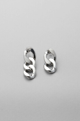 Weekday Thick Chain Earrings - Silver