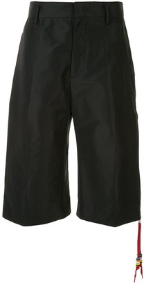 No.21 Contrasting Side-Zip Bermuda Shorts