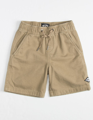 Billabong Larry Layback Twill Little Boys Shorts (4-7)