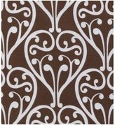 Bacati Damask Chocolate Printed Crib Sheet