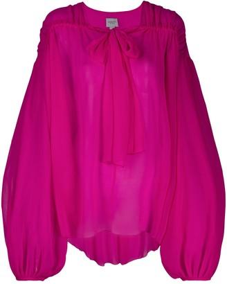Giambattista Valli Silk Oversized Blouse
