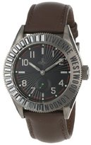 Vivienne Westwood Saville Men's Quartz Watch with Black Dial Analogue Display and Brown Leather Strap VV007CHBR