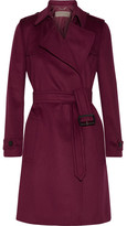 Burberry Tempsford Cashmere Trench Coat - Crimson