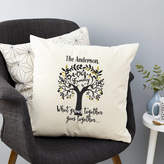 Tillie Mint Loves Personalised Family Tree Surname Cushion
