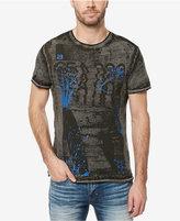 Buffalo David Bitton Men's Charcoal Wash Graphic-Print T-Shirt