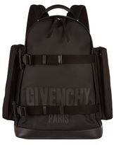 Givenchy Double Strap Logo Canvas Backpack