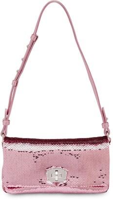 Miu Miu Pink Sequin Shoulder Bag