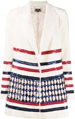 Elisabetta Franchi Sequin Embellished Blazer