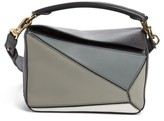 Loewe Small Puzzle Colorblock Calfskin Leather Bag - Grey