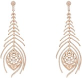 Rosegold Latelita Peacock Feather Long Drop Earrings
