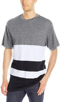 Southpole Men's Short Sleeve Cut and Sewn T-Shirt with Color Blocks