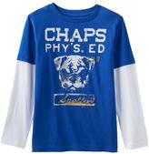 Chaps Boys 4-7 Bulldog Mock-Layer Tee