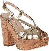 Gastone Lucioli 4041 Platform Sandal Gold Oro Leather