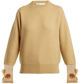 Toga Crew-neck bead-embellished wool-blend sweater