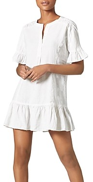 Joie Brandt Linen Ruffled Dress
