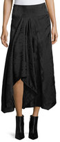 Zero Maria Cornejo Textured High-Low Midi Skirt