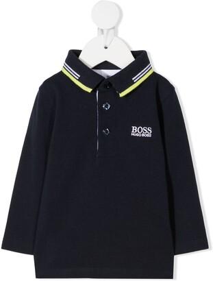 Boss Kids Logo Detail Polo Shirt