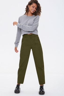 Forever 21 Pleated Ankle Pants