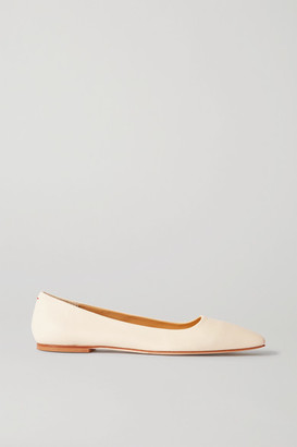 AEYDĒ Gina Leather Ballet Flats - Off-white