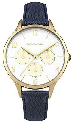 Karen Millen Women's Analogue Quartz Watch with Leather Strap KM155UG