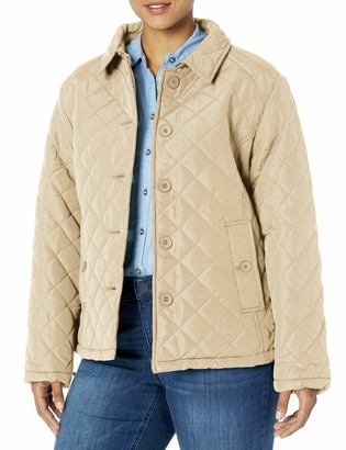 Big Chill Women's Diamond Quilted Jacket with Fold Collar